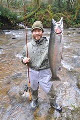 Coos Bay house photo - 34 inch 13 pound Steelhead, my biggest yet!