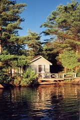 Stoney Lake cottage photo - Sleeping Cabin, right on the lake, with great morning light and sunset views