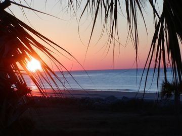 Seabrook Island villa rental - Typical Seabrook sunrise from our veranda.