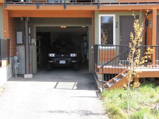 Fraser townhome photo - Attached garage with extra storage for skis and bikes