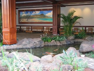Waikiki condo photo - Lobby & koi pond