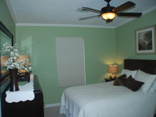 Key Largo house photo - Guest bedroom with queen bed, memory foam mattress topper