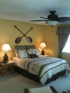 Queen size bed. Koa wood Paddles
