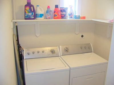 Upstairs Laundry Room - Full size W/D