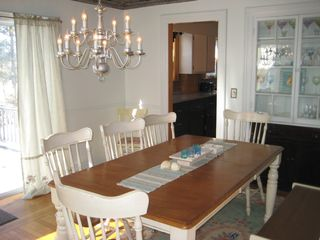 Hyannis - Hyannisport house photo - Dining room - Seating for 12! Slider to large deck