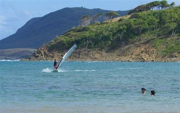 wind surfing at Cas en Bas beach