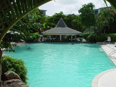 Swim up Pool Bar and Restaurant---Enjoy a tropical drink!
