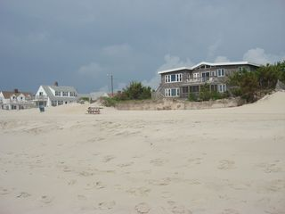 Pristine, soft, white beach just steps away! - Brant Beach house vacation rental photo