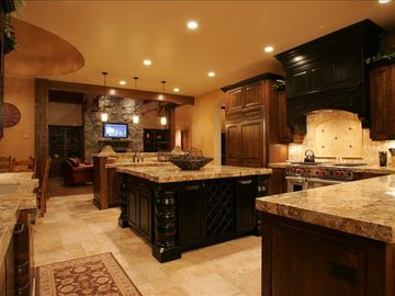 Deer Valley house rental - The Gourmet Kitchen is a Chef's Dream and great for Socializing
