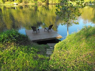 Floating Dock w/ Steps next to Canoe/Kayak Launching Strip