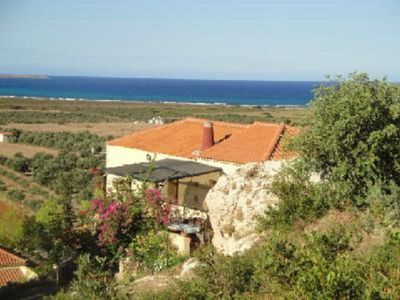 Latomio traditional house with views of sea and mountains