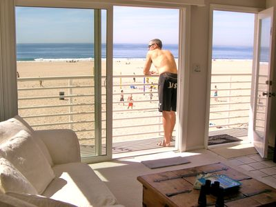 Hermosa Beach condo rental - Private Beach Balcony. Open sliding doors and bring the beach Inside