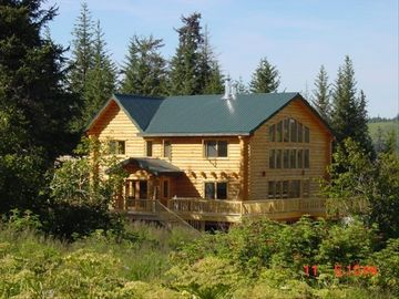 Homer house rental - Laughing Raven in the summer.