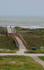 Wooden boardwalk is an effortless way to get to the beach!
