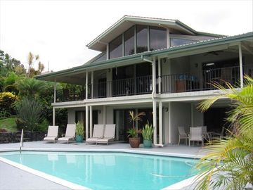Kailua Kona house rental - Hawaiian Paradise! Heated pool in a private garden