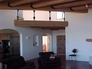 Taos house photo - More of the Great Room and a look above to the Split level Loft, Bose sound