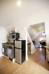 Charlottesville apartment photo - View of kitchenette and daybed/entrance area from the living room.