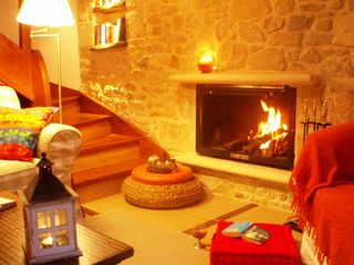 Platanias villa photo - Relax by the fireplace during the winter nights