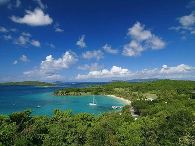 Caneel Bay, the final beach of the Lind Point hiking trail near GP SeaView!