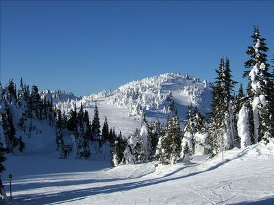 Looking towards Mt Tod from top of Sunburst mountain at Sun Peaks resort