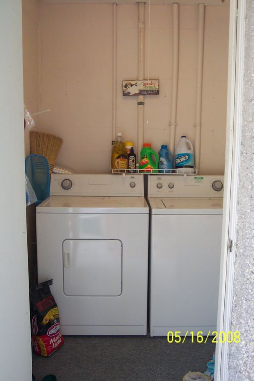 Laundry room off porch