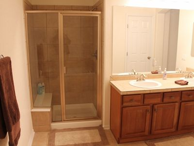 Littleton townhome rental - Master Shower