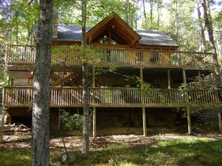 Gatlinburg chalet photo - Beautiful Upper and Lower Wrap-Around Decks. Great for enjoying the outdoors.