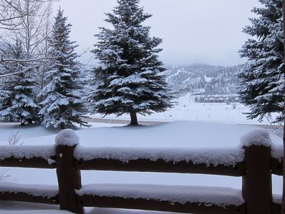 Dec. 2012 - snowy! View from patio toward Solid Muldoon and Success runs.