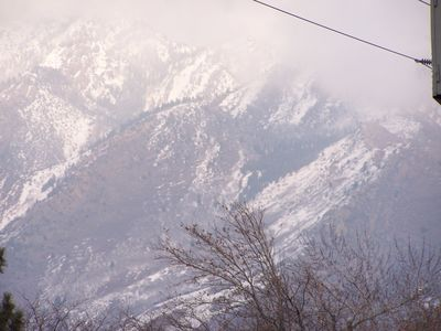 Cottonwood Heights house rental - View from our front porch twords the east. 10 ski areas with in 45 minuts.