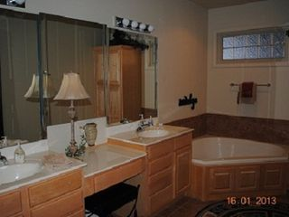 Branson villa photo - Master Bedroom Bath, with Jacuzzi Tub, Double Sinks