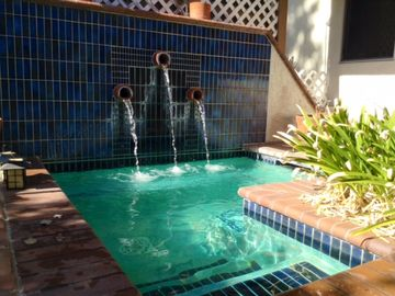 Temecula house rental - Wonderful in ground Spa with waterfall Ready to enjoy quite nights.