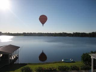 Winter Haven house photo - Hot airballoon over lake