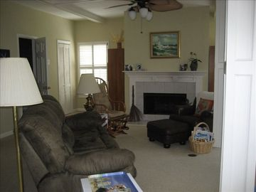 Another view of living room, comfortable reclining sofa
