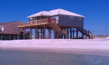 Dauphin Island house rental - View of Southern Breeze from Gulf of Mexico