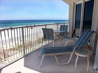 Beach front balcony with great open view of the gulf