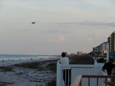 Looking Southward with the Blimp