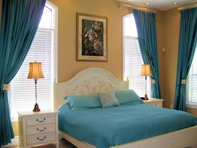 Reunion villa rental - First Floor Master Suite with views of the pool and the sunrise!