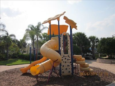 Kids will enjoy the playground.