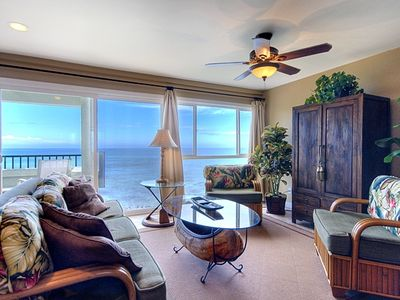 Ocean View From The Living Room. Designer Furnished!