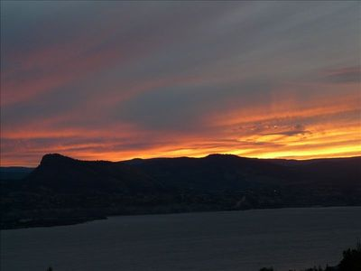 Sunset over Lake Okanagan.