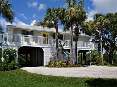 Secluded Peninsula Key West Style Gulf Access Home!