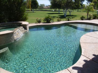 Huge Private Pool and Spa on the Citrus Golf Course.