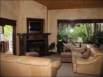 Beaver Creek townhome rental - Living Area - Gas Fireplace, TV, Piano