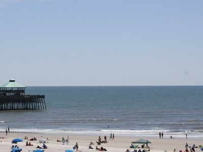 Folly Beach villa rental - View Of Folly Peir and The Beach From Our Great Deck!