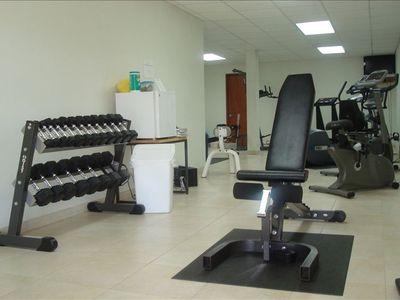 Work out in our air conditioned fitness center.