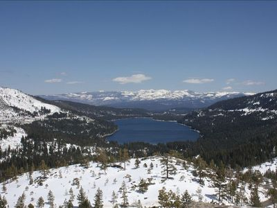 View down towards Truckee and Donner Lake from Donner Summit, just to the West.