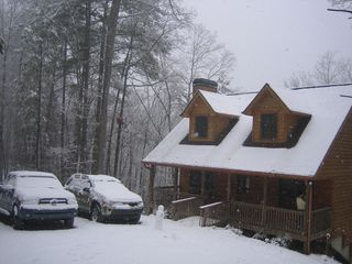 Ellijay cabin photo - White Christmas in December 2010