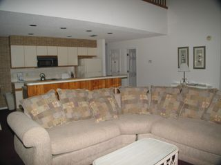 Sunset Beach townhome photo - large seating area living room