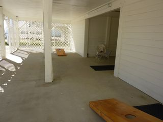 Cherry Grove Beach house photo - ONE OF THE THREE OCEAN FRONT PORCHES.. PIECE OF PARADISE