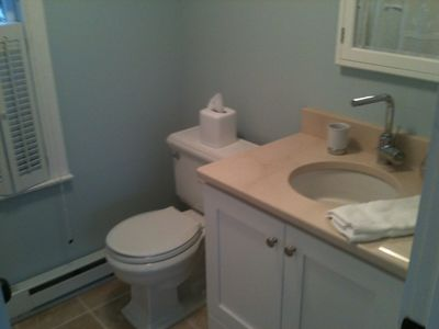 One of 2 newly redone bathrooms